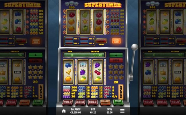 Play slots at Fruity Casa: Fruity Casa featuring the Video Slots Super Timer with a maximum payout of $2,000