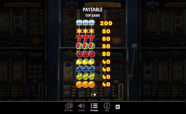 Slot game symbols paytable Top Game