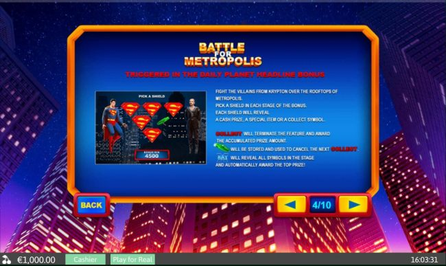 Battle for Metropolis - Triggered in the Daily Planet Headline Bonus