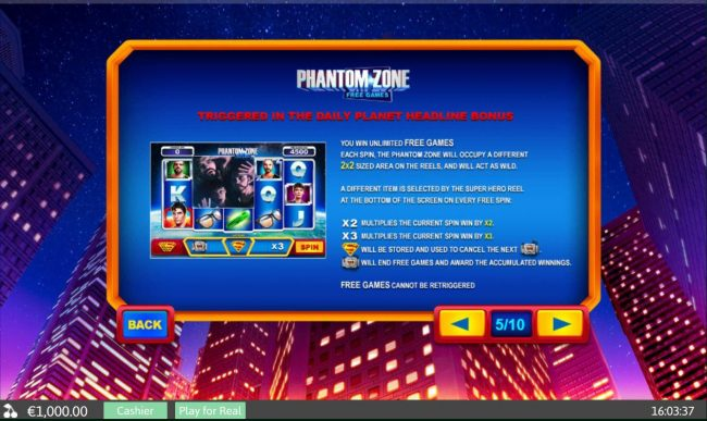 Phantom Zone Free Games - Triggered in the Daily Planet Headline Bonus