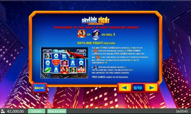 Skyline Fight Free Games - Triggered in the Daily Planet Headline Bonus
