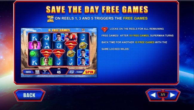EuroMax Play featuring the Video Slots Superman the Movie with a maximum payout of $225,000