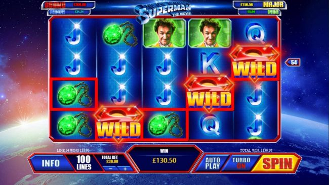 LesA Casino featuring the Video Slots Superman the Movie with a maximum payout of $225,000