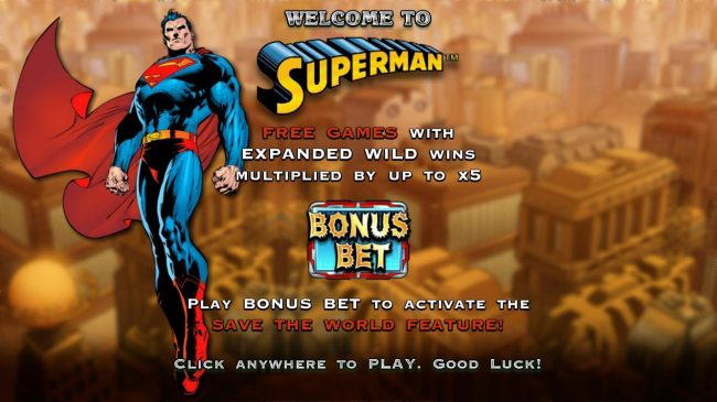 Play slots at Sun Play: Sun Play featuring the Video Slots Superman with a maximum payout of $100,000