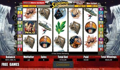 Play slots at Malina: Malina featuring the Video Slots Superman Jackpots with a maximum payout of Jackpot