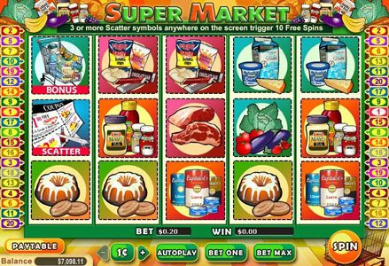 Red Stag featuring the Video Slots Supermarket with a maximum payout of $100,000