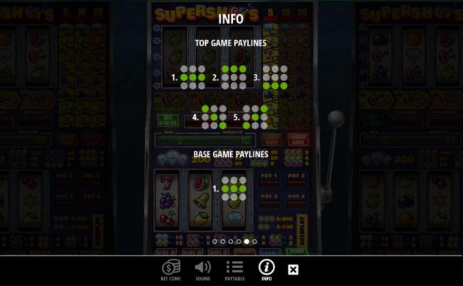 VIP Casino featuring the Video Slots Supershots with a maximum payout of $20,000