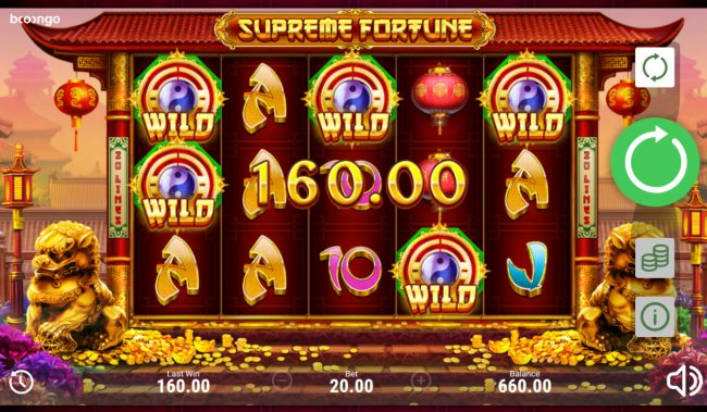 Supreme Fortune :: Wild feature triggers multiple winning paylines