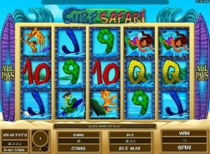 Play slots at Casino Room: Casino Room featuring the Video Slots Surf Safari with a maximum payout of $10,000