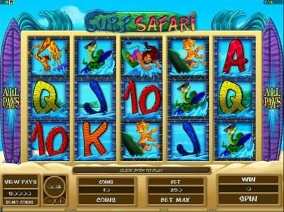 Betive featuring the Video Slots Surf Safari with a maximum payout of $312,500