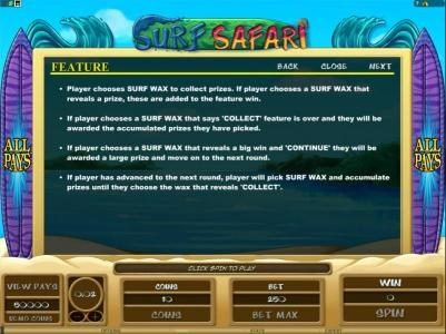 House of Jack featuring the Video Slots Surf Safari with a maximum payout of $312,500