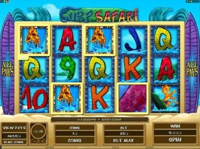 Quatro featuring the Video Slots Surf Safari with a maximum payout of $312,500