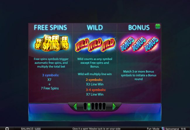 888 Tiger featuring the Video Slots Surprising 7 with a maximum payout of $125,000