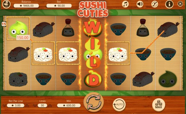 Casino Dingo featuring the Video Slots Sushi Cuties with a maximum payout of $30,000