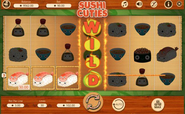 Play slots at Karamba: Karamba featuring the Video Slots Sushi Cuties with a maximum payout of $30,000