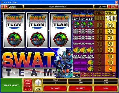 Play slots at Spin Palace: Spin Palace featuring the Video Slots S.W.A.T. Team with a maximum payout of $16,000