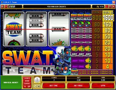 Golden Tiger featuring the Video Slots S.W.A.T. Team with a maximum payout of $16,000