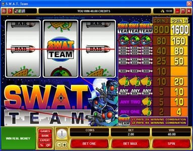 King Neptunes featuring the Video Slots S.W.A.T. Team with a maximum payout of $16,000