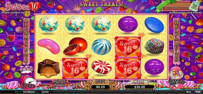 Casino Extreme featuring the Video Slots Sweet 16 with a maximum payout of $312,500