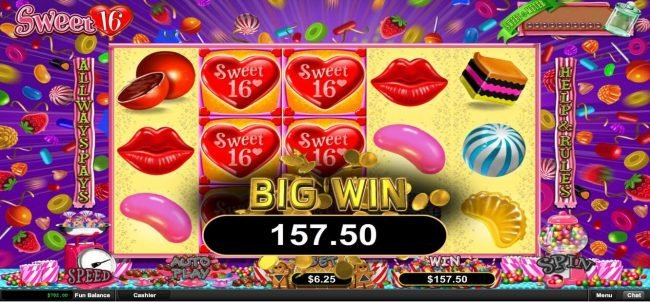 Mighty Slots featuring the Video Slots Sweet 16 with a maximum payout of $312,500