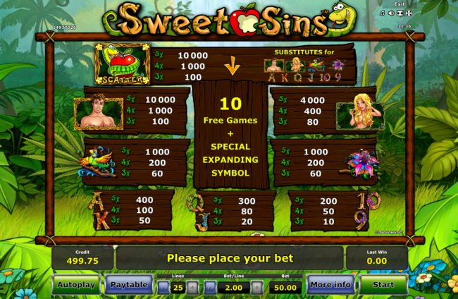 Play slots at Casino-X: Casino-X featuring the Video Slots Sweet Sins with a maximum payout of $25,000