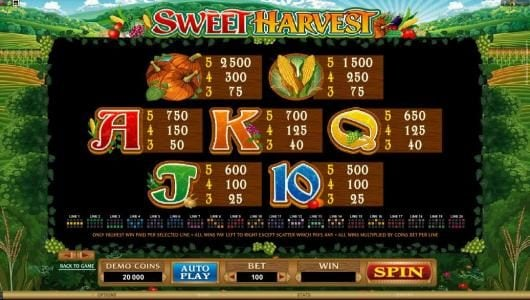 slot game symbols paytable continued and payline diagrams