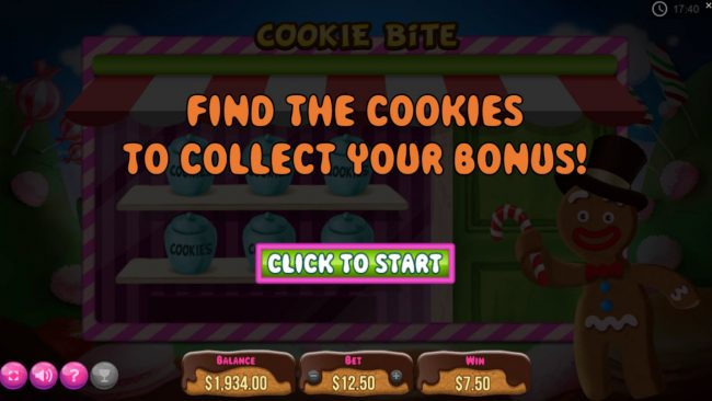 Find the cookies to collect your bonus