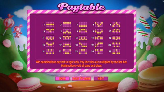 Paylines 1-25
