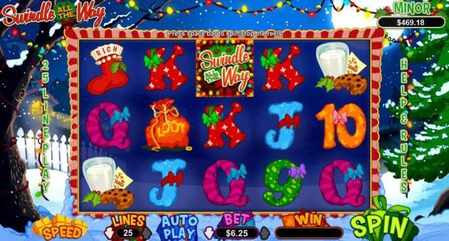 Play slots at Casino Bellevue: Casino Bellevue featuring the Video Slots Swindle All the Way with a maximum payout of $12,500