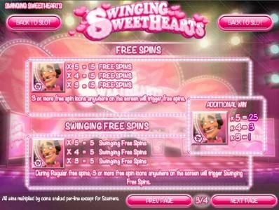 Slots Capital featuring the Video Slots Swinging Sweethearts with a maximum payout of $24,998
