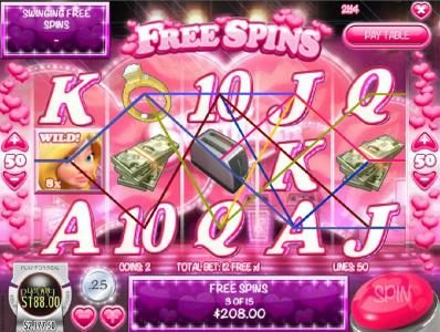Supernova featuring the Video Slots Swinging Sweethearts with a maximum payout of $24,998