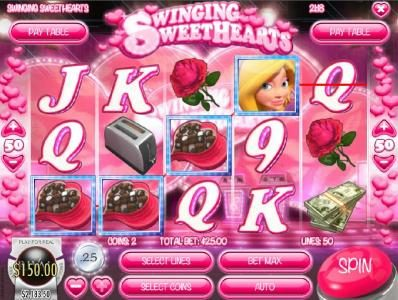Desert Nights Rival featuring the Video Slots Swinging Sweethearts with a maximum payout of $24,998