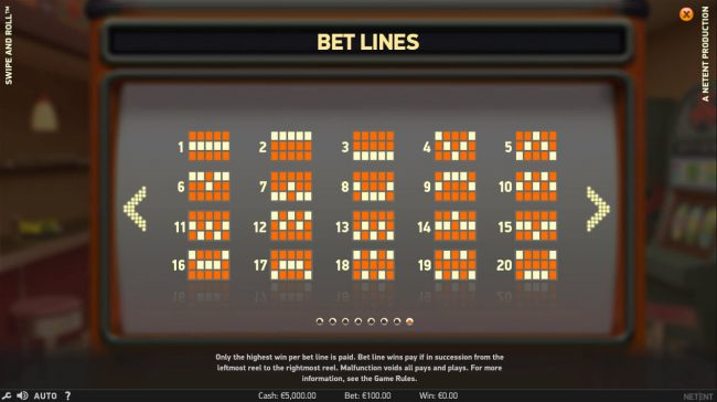 Winzino featuring the Video Slots Swipe and Roll with a maximum payout of $810,000