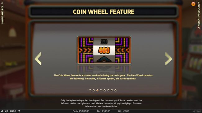 Rich Casino featuring the Video Slots Swipe and Roll with a maximum payout of $810,000
