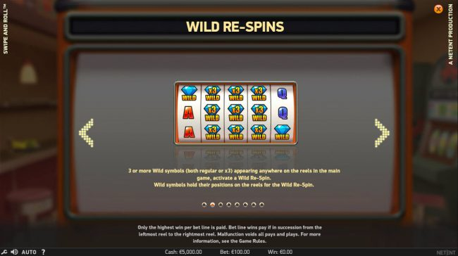 LaFiesta featuring the Video Slots Swipe and Roll with a maximum payout of $810,000