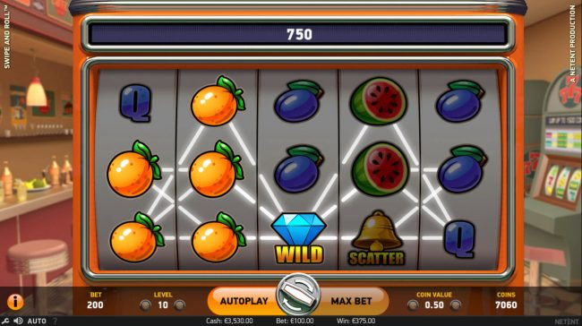 Wixstars featuring the Video Slots Swipe and Roll with a maximum payout of $810,000