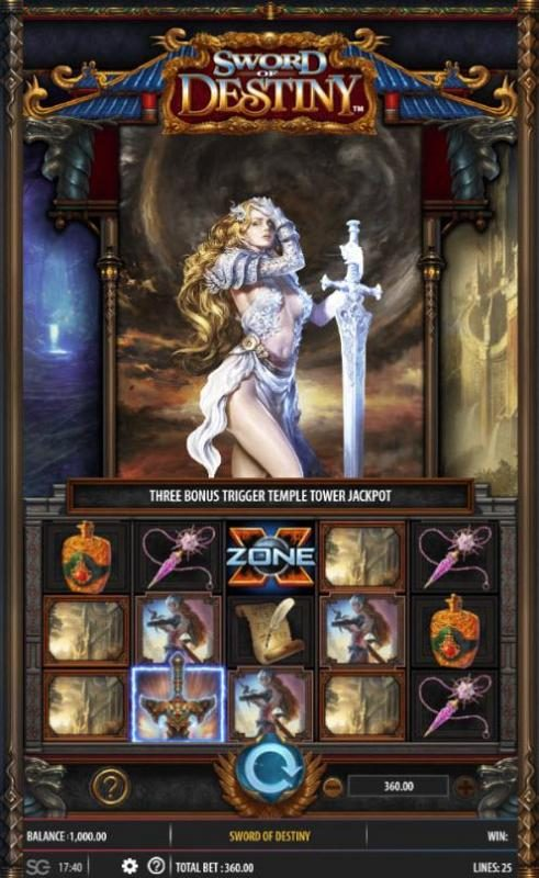 Play slots at NetBet: NetBet featuring the Video Slots Sword of Destiny with a maximum payout of $250,000