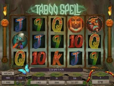 Energy featuring the Video Slots Taboo Spell with a maximum payout of $4,000