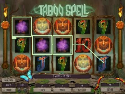 10Bet featuring the Video Slots Taboo Spell with a maximum payout of $4,000