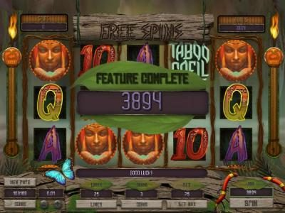 Slot Planet featuring the Video Slots Taboo Spell with a maximum payout of $4,000