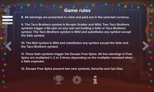 Taco Brothers Saving Christmas :: General Game Rules 8-12