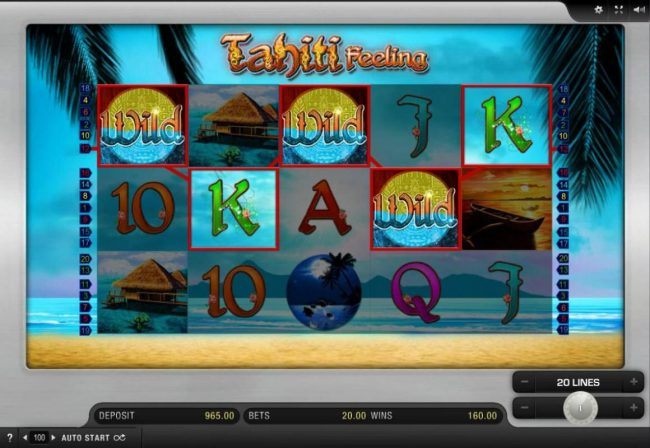 Grand Ivy featuring the Video Slots Tahiti Feeling with a maximum payout of $10,000
