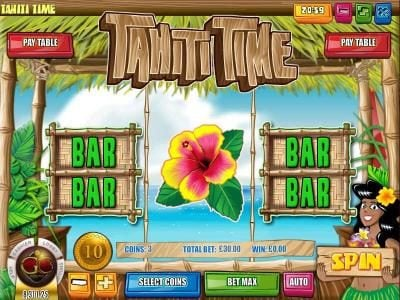 Pantasia featuring the Video Slots Tahiti Time with a maximum payout of $225,000