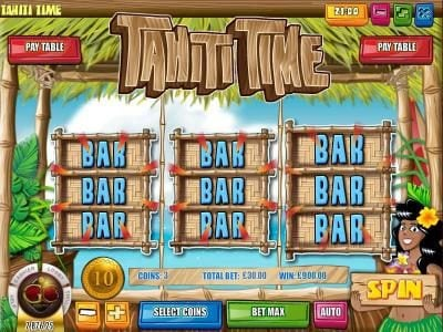 Tangiers featuring the Video Slots Tahiti Time with a maximum payout of $225,000