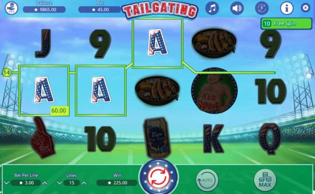 Kingbit Casino featuring the Video Slots Tailgating with a maximum payout of $30,000