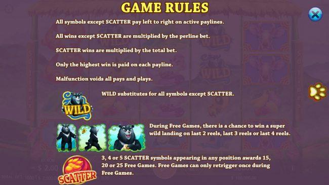 Taiwan Black Bear :: General Game Rules
