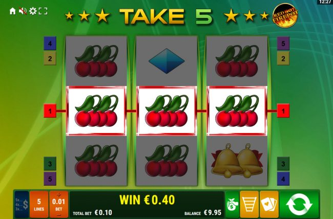 Take 5 Red Hot Firepot :: Multiple winning paylines