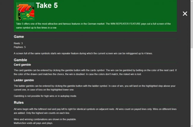 Take 5 :: General Game Rules