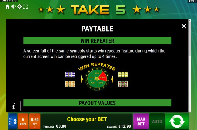 Take 5 :: Wild Repeater Rules