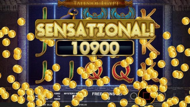 Crystal Casino Club featuring the Video Slots Tales of Egypt with a maximum payout of $5,000